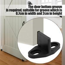 Направляющая для раздвижной двери сарая, направляющая для нижней двери, направляющая для пола, аксессуары для дверей, направляющая для раздвижного пола, 1 комплект