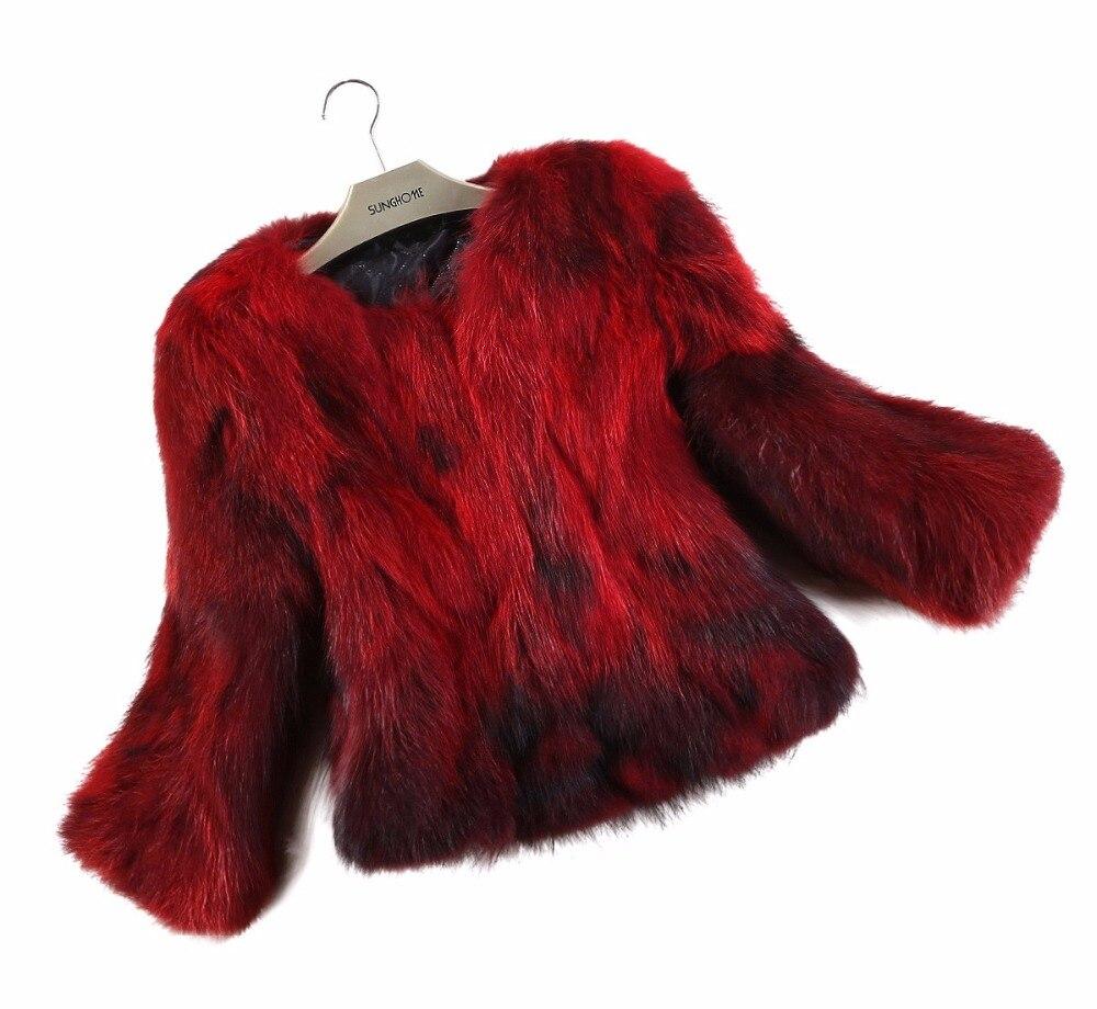 2018 New Arrival Real Fox Fur Coat Lady Top Selling Factory Wholesale Natural Fox Fur Jacket 100% Genuine Fur Overcoat