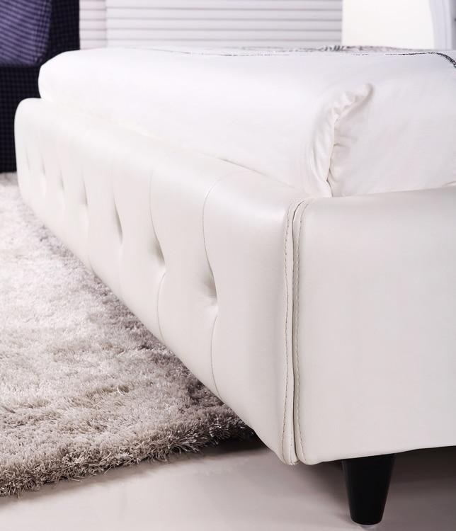 Cama dormitorio, Diseño Moderno europeo, Cuero de Grano superior ...