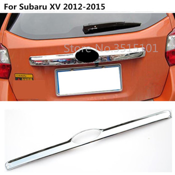ABS Chrome voiture style corps coffre couvercle couvercle moulage porte arrière queue porte garniture bâton partie 1 pièces pour Subaru XV 2012 2013 2014 2015