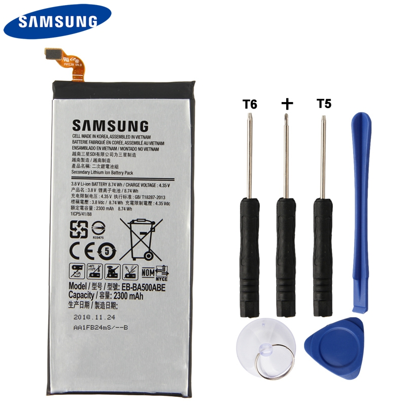 Original Samsung Battery EB-BA500ABE For Samsung GALAXY A5 2015 EBBA500ABE Genuine Replacement Phone Battery 2300mAhOriginal Samsung Battery EB-BA500ABE For Samsung GALAXY A5 2015 EBBA500ABE Genuine Replacement Phone Battery 2300mAh