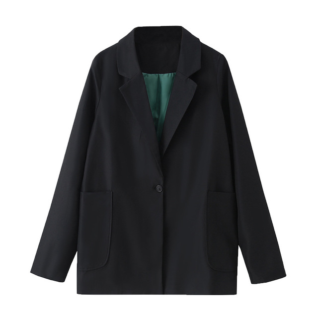 Korean Style Womens Maxi Blazer Black Long Sleeve Blazer Plus Size Suit Jacket Women Oversize Blazer Femme 4XL 5XL