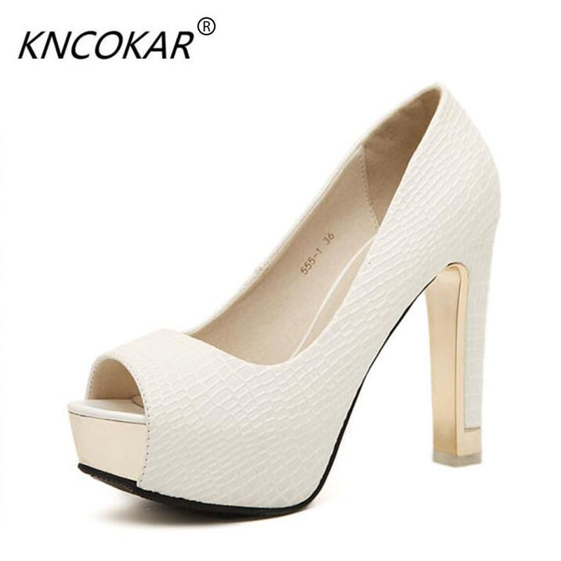High heels thick with waterproof single fish mouth shoes 2018 Spring, new sexy club for women's shoes high with women's shoes 1000g 98% fish collagen powder high purity for functional food