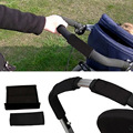 2Pc Baby Stroller Grip Cover  AND   2Pc Point Stroller Bar Cover Suitable for Most Stroller Easy-to-use Hook-and-loop Fasten