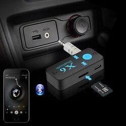 Deinbe X6 Auto-Auto Bluetooth Aux Adapter-Untersttzungs-TF-Karte ...