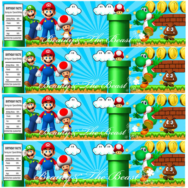 super mario personalized bottle water