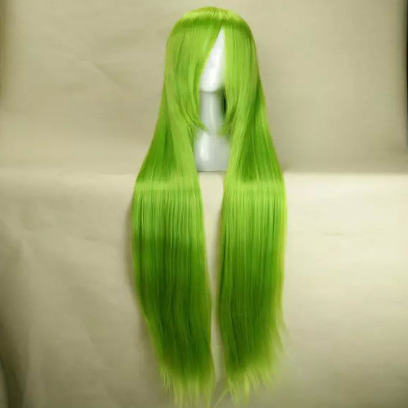 HAIRJOY Light Green Cosplay Wig Woman Wigs 120cm Long Straight Animated Synthetic Hair Party