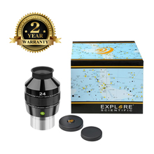 лучшая цена New Explore Scientific Eyepiece 82 degree Extreme Wide Field Waterproof 2inch 24mm Argon-Purged