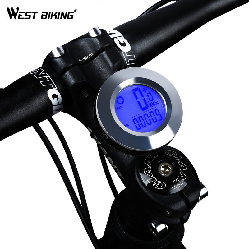 WEST BIKING Wireless Bicycle Round Computer Waterproof Auto Wake Up Backlight MTB Road Bike Outdoor Handlebar Cycling Computer