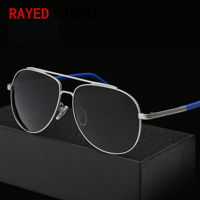 d3f3a5aad06 Top Quality Pilot Sunglasses HD UV400 Fashion Mirror Sun Glasses Men s  Night Vision Aviation Driving Polarized Brand Sunglasses