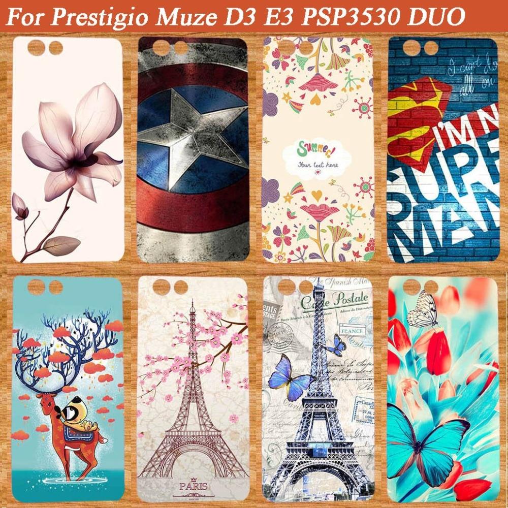 Hochwertige SOFT TPU Telefonhülle für Prestigio Muze D3 DIY bemalte Hülle Abdeckungen für Prestigio Muze D3 PSP3530 DUO 3530Duo