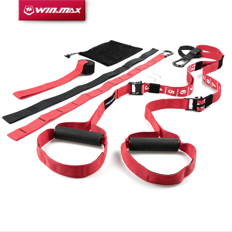 WIN.MAX Crossfit Fitness Strength Training Resistance Bands Adjustable Exerciser Hanging Straps Suspension Trainer Basic Kit