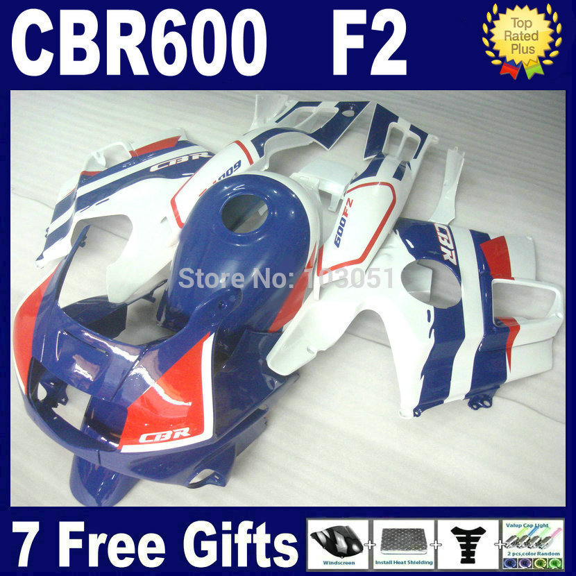 Custom Motorcycle fairings kits for Honda CBR600 F2 1991 1992 1993 1994 CBR 600 F2 CBR600 F 91 92 93 94 fairing kit+ tank cover