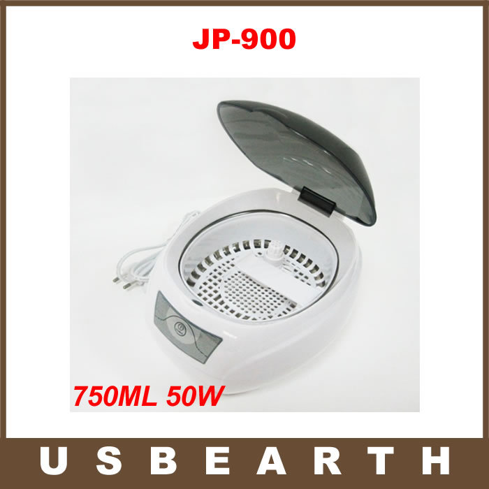 Free Shipping JP-900 750ML 50W Mini Glasses Watch Jewelry CD Ultrasonic Cleaner with free Basket and Watch Stand