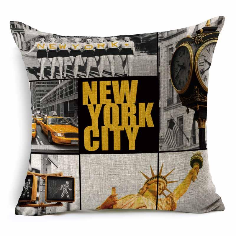 Aliexpress.com : Buy RUBIHOME Wholesale(3pieces/lot) City New York London Paris  Decorative Cushion Cover Throw Pillowcase Polyester Home Decor Sofa From ...