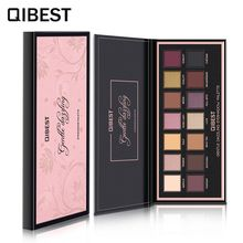 QIBEST Makeup Matte Glitter Eyeshadow Palette Highly Pigmented Nude Sombras Rose Cosmetics 14 Colors