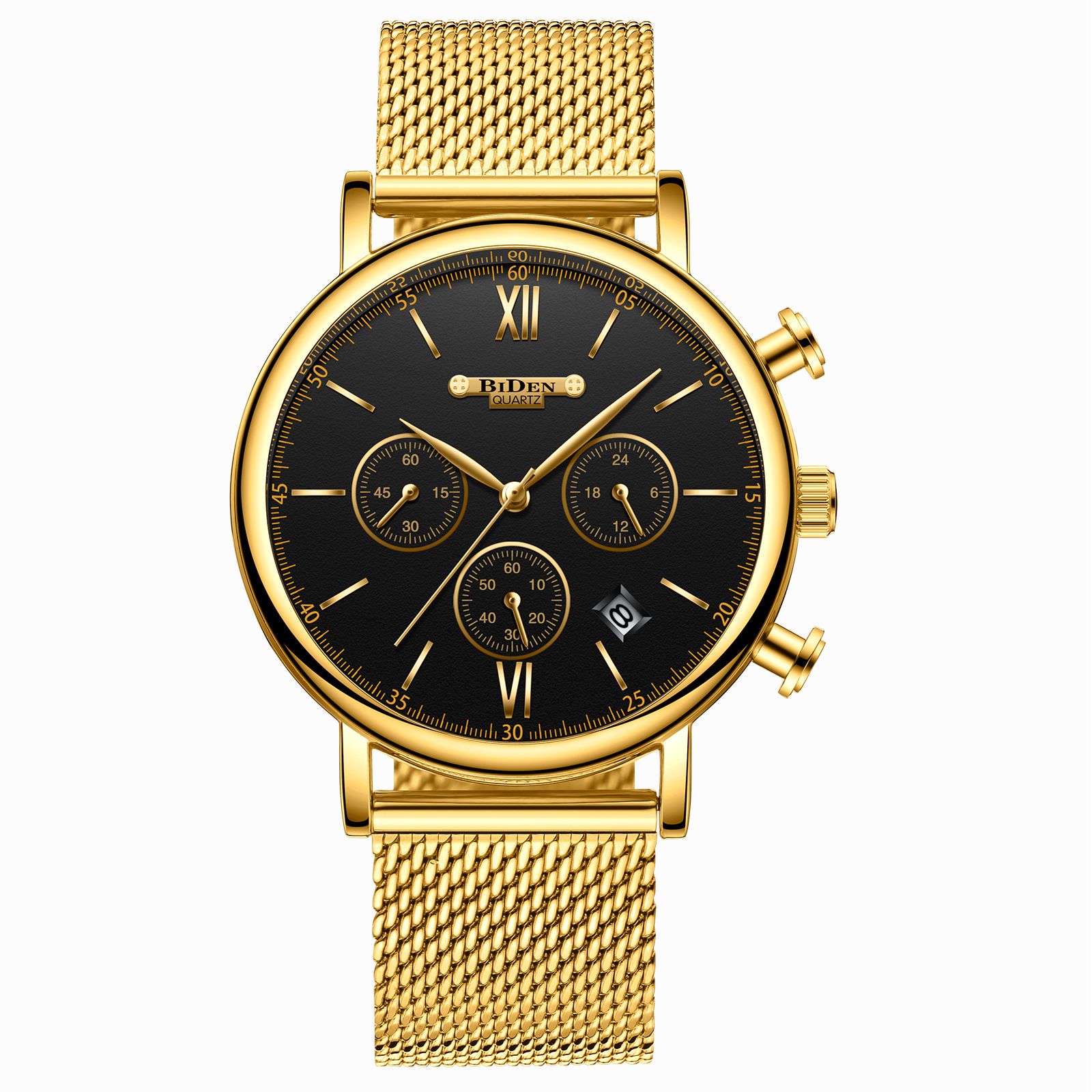 Biden Biden Men's Ultra-thin Mesh with Waterproof Fashion Watch Foreign Trade Explosion Models 0082 цена и фото
