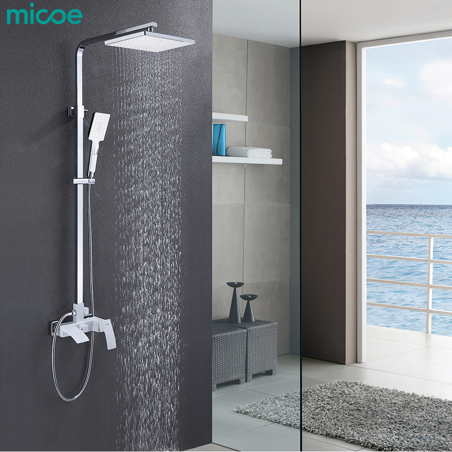 Micoe Bathroom Shower Set Bathtub Faucet Tap Bathroom Shower Faucet Set Waterfall Bath Sink Faucet Cold And Hot Water Mixer baolinlong classic styling brass bathroom shower faucet bathtub faucet tap bath shower set waterfall bathtub sink faucet water