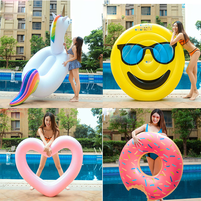 Inflatable Swimming Ring Giant Flamingo Unicorn Adult Pool Float Mattres Swimming Circle Life Buoy Kid Swimming Water Pool Toys inflatable black swan pool float swimming pool ring summer inflatable toys for adult child water flotadores para piscina
