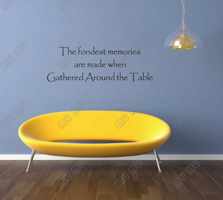 Kitchen decorations Vinyl wall quotes The fondest memories are made ...
