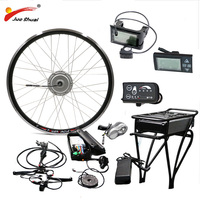 BAFANG электрический велосипед комплект 36 в 250 Вт 350 Вт 500 Вт моторное колесо с задней стойкой батареи для 26 700C 28 ebike Электрический мотор e велоси