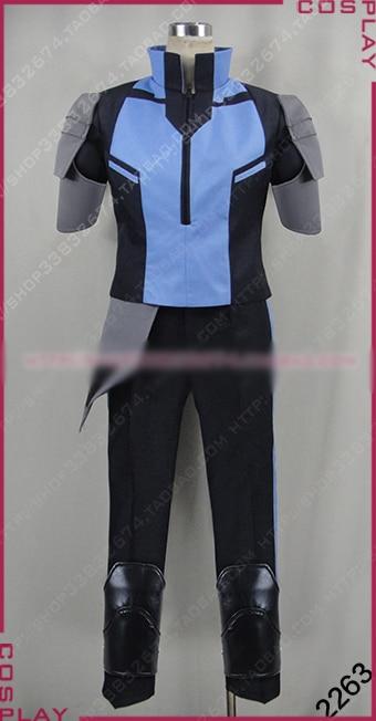 RWBY Mercury Black Cosplay Costume Uniform Outfit Top+Pants+Sleeves Custom made