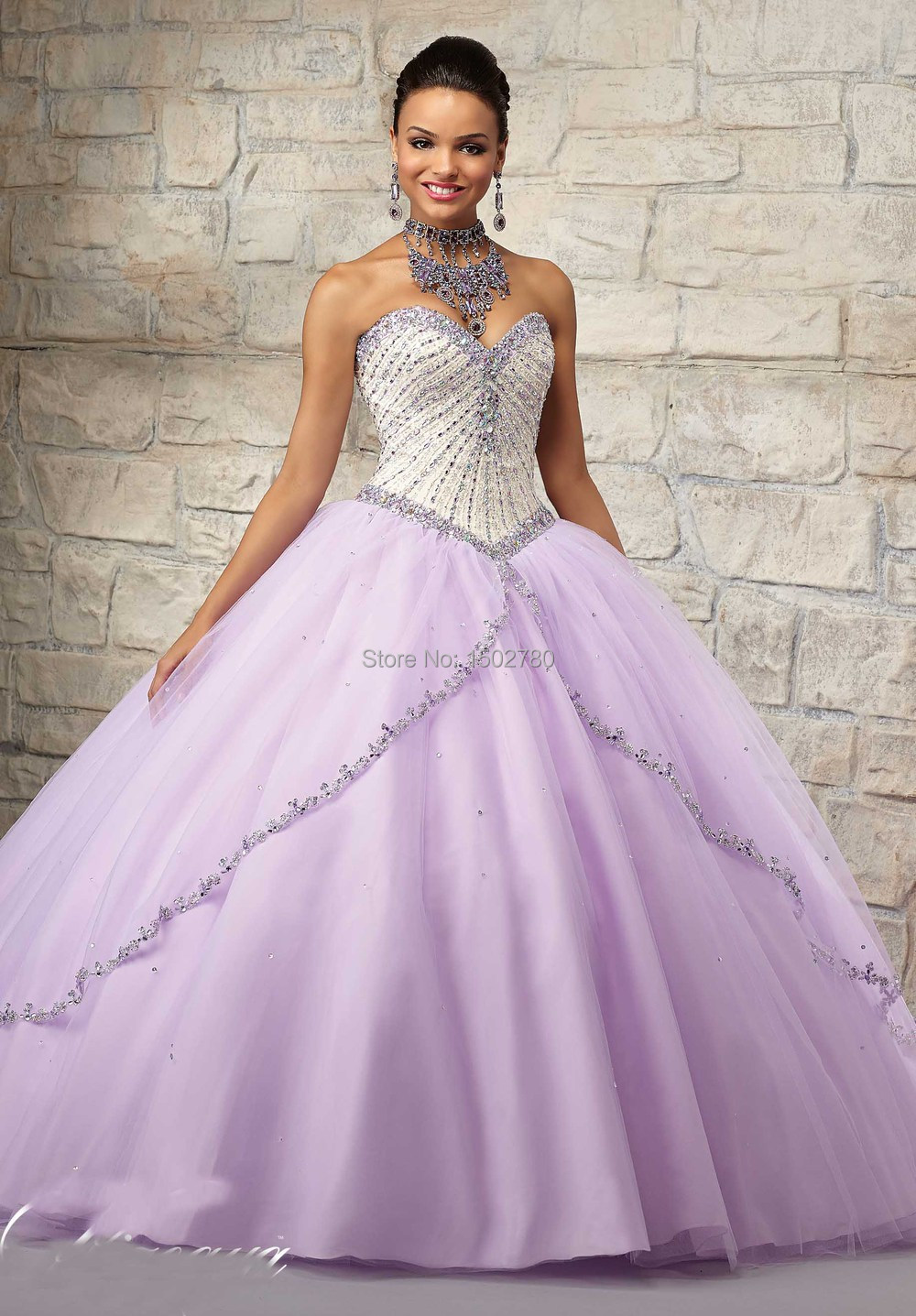 Debut Gowns With Removable Jacket Beading Sweetheart Ball Gown Lilac Quinceanera Dresses-in Quinceanera Dresses from Weddings & Events on ...