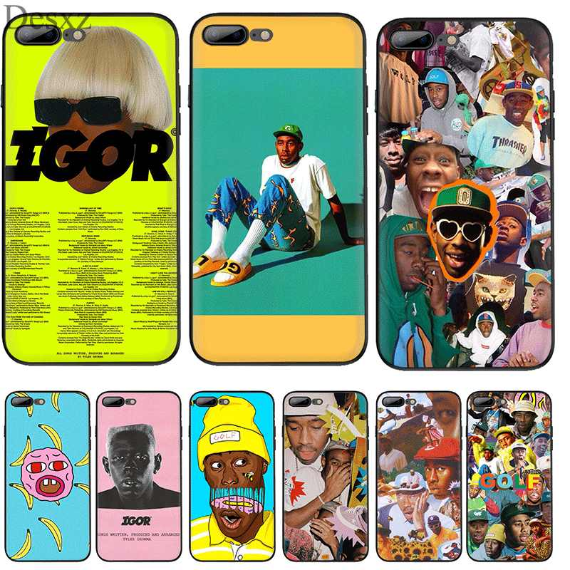 Cell Phone Case Silicone TPU for iPhone 7 8 6 6s Plus X XS Max XR 5 5s SE Cover Tyler the Creator Igor Album Red Box Logo Shell