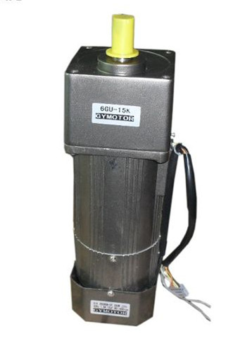AC 220V 180W Single phase Constant speed electromagnetic brake motor with gearbox. AC 220V gear motor,