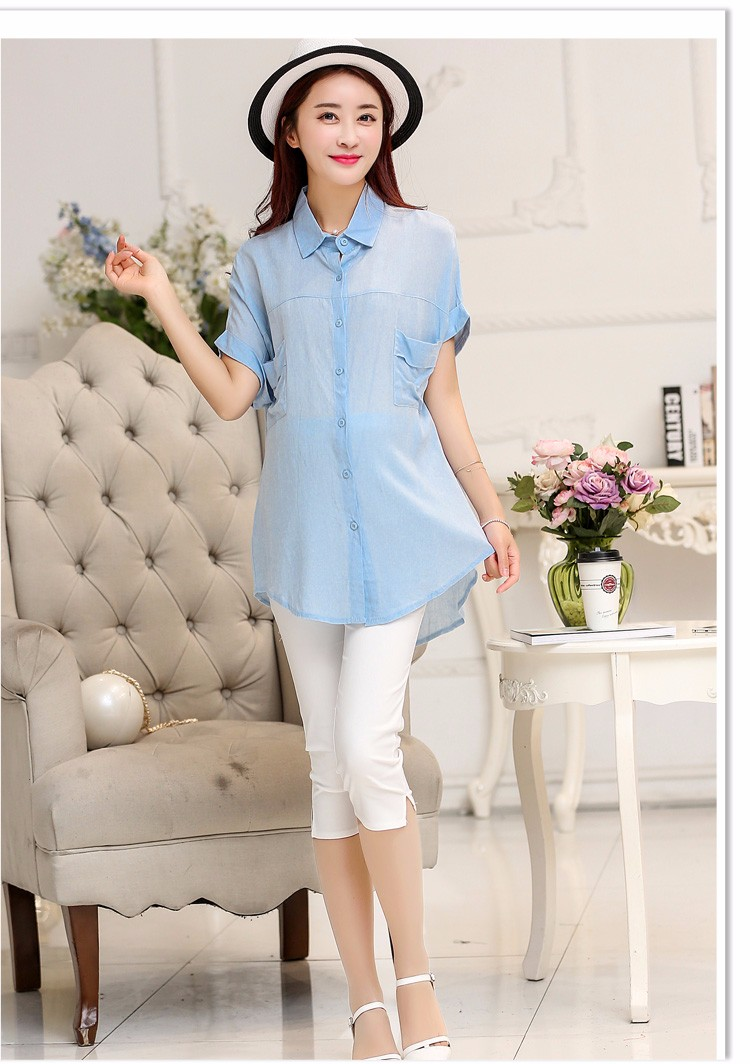 91454d7246621 ForMal Maternity Blouses Short Sleeve Pregnancy Shirts for Pregnant ...