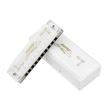 EASTTOP T008L 10 Holes Harmonica Tone C White Color Blues Jazz Folk Music Musical Instrument