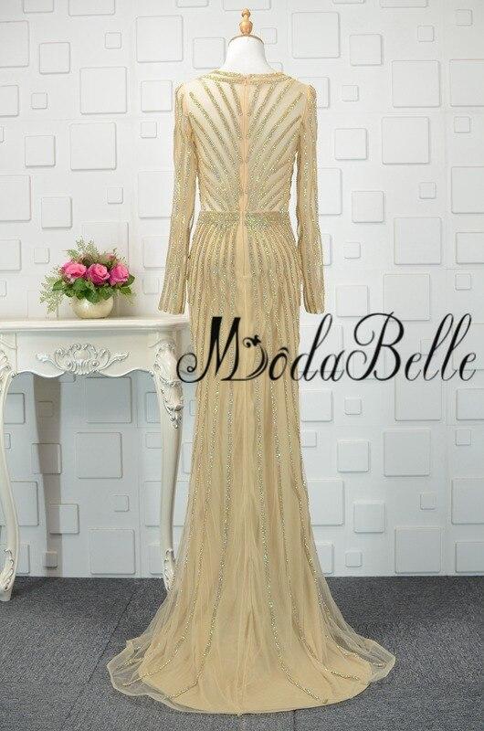 modabelle Ντουμπάι χρυσό φόρεμα με μακρύ - Ειδικές φορέματα περίπτωσης - Φωτογραφία 2