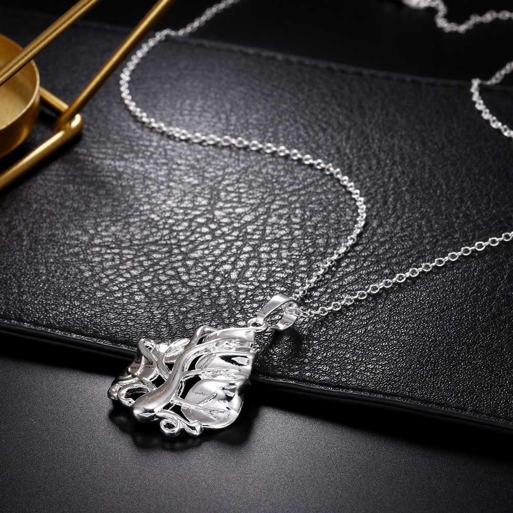 คุณภาพสูง 925 ประทับตรา silver plated สร้อยคอผู้หญิง Perfect ขัดประณีต Tree of Life จี้แฟชั่นเครื่องประดับหญิง