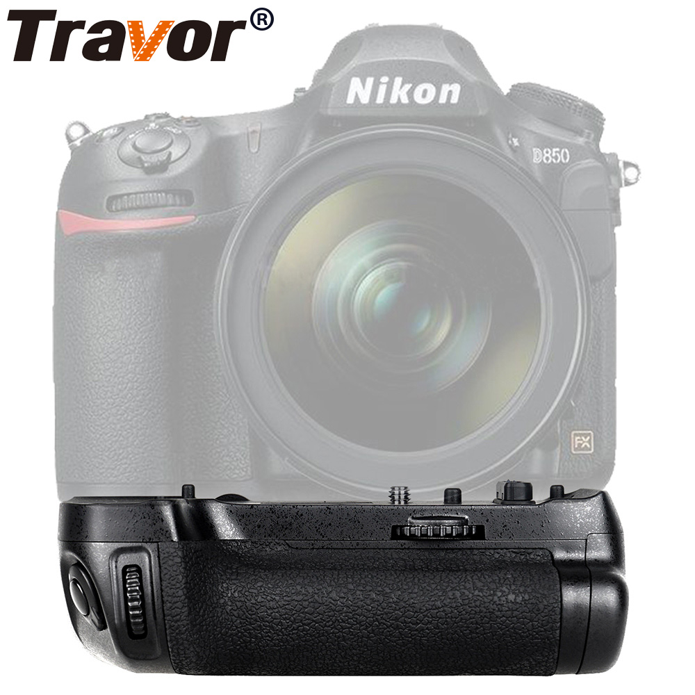 Travor Vertical Battery Grip For Nikon D850 DSLR Camera Work With EN-EL15 Or 8 Piece AA Battery As MB-D18