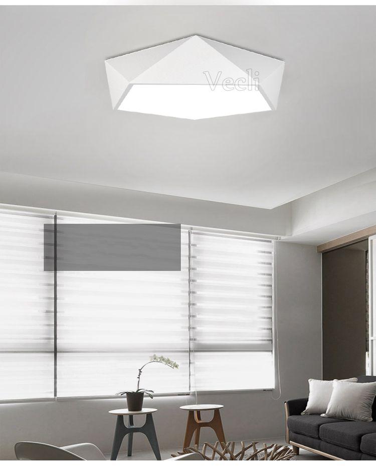 € 19.95 42% de réduction|Moderne 420mm 24 W Géométrie LED lampe de plafond de bureau chambre étude de lampe de salon d'entrée porche balcon éclairage