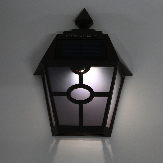 Environment Friendly Brown Black Solar Ed Hexagonal Outdoor Led Wall Lamp Fence Light