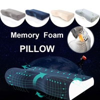 Cotton Velvet Bamboo Fiber Orthopedic Pillows For Neck Pain Memory Foam Travel Bedding Pillow With Pillowcase