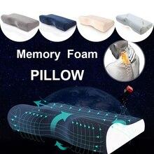 Хлопок/бархат/бамбуковое волокно ортопедические подушки для шеи боль пены памяти путешествия постельные принадлежности Подушка с наволочкой