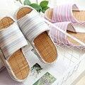 Millffy Японский бамбук нижней полосы пары домашние тапочки закрытый тапочки дышащие сандалии и тапочки