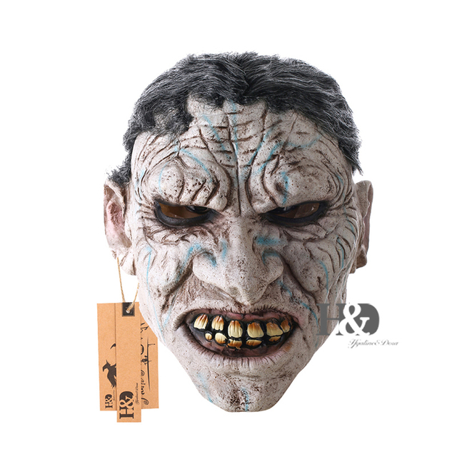 Full Face Devil Scary Face Mask for Cosplay Latex Mask Horror Masquerade Adult Ghost Halloween Theater Props Party Decoration 1