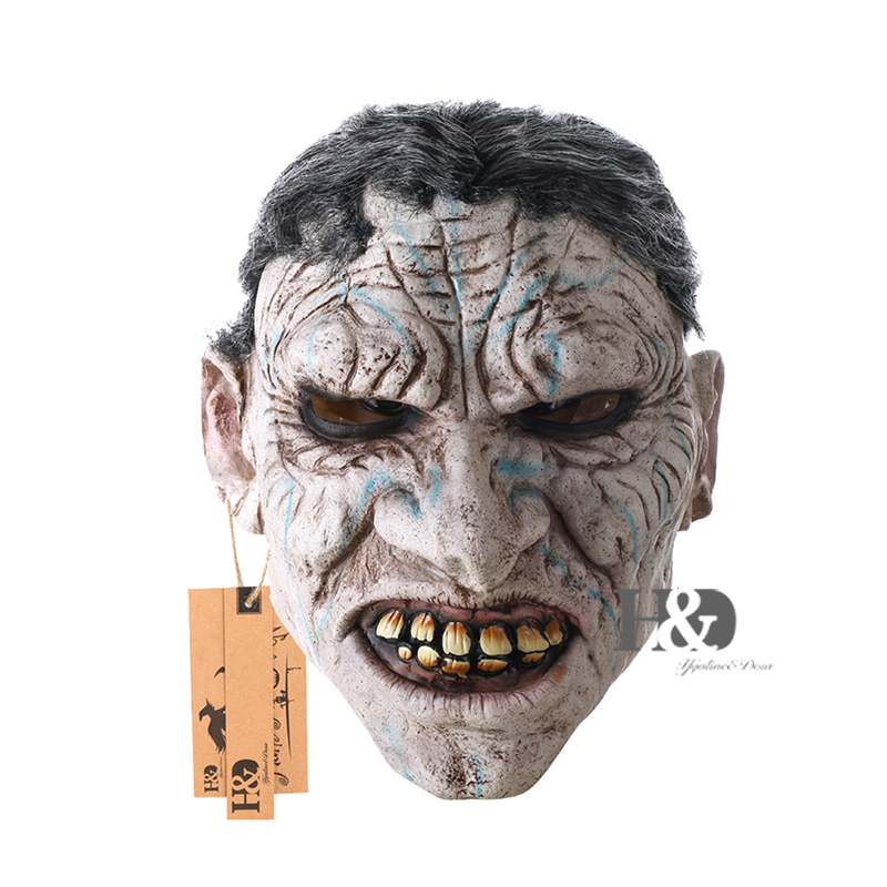 Full Face Devil Scary Face Mask For Cosplay Latex Mask