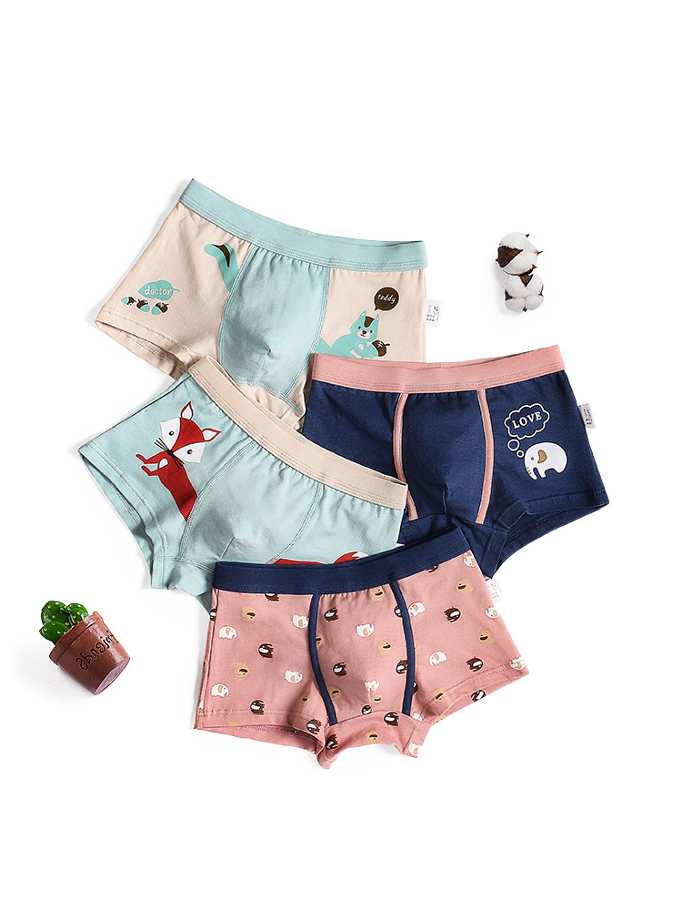 2 Piece Kids Boys Underwear Cartoon Children's Shorts Panties For Baby Boy Boxers Stripes Teenager Underpants 110cm-160cm