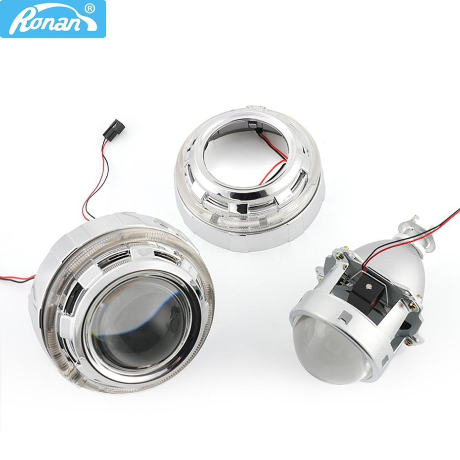 Ronan métal 3.0 ''H1 HID bixenon projecteur lentille LHD RHD fit H1 H4 H7 phare LED optique ange yeux voiture style bricolage rénovation