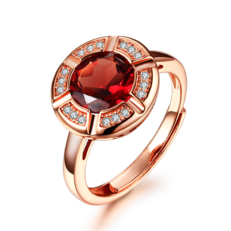 Real 925 Sterling Silver Vintage Rings With Red Garnet Natural Stone Ruby Jewelry 18K Rose Gold Plated Wedding Rings For Women yoursfs 18k white gold plated austria crystal soliraire anniverary rings with princess cut