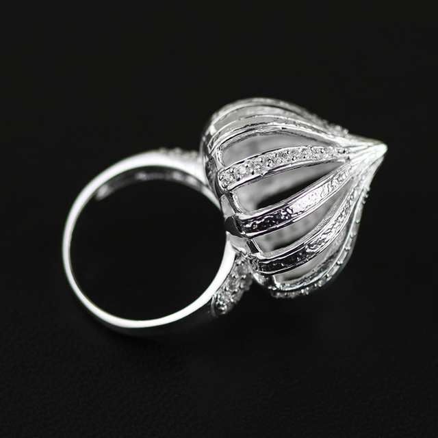 Lotus Diversión Exclusiva Hecha A Mano Linda Aros de cebolla Real Pura Plata Esterlina 925 Accesorios de La Joyería Para Las Mujeres anillos de plata