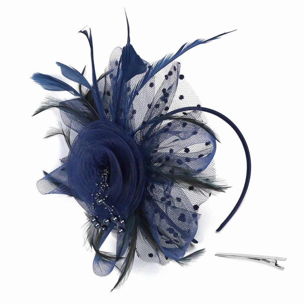 Flapper gran diadema estilo Gatsby tocado perla de la fiesta de la novia tocado YP Chouchou chevelet Femme