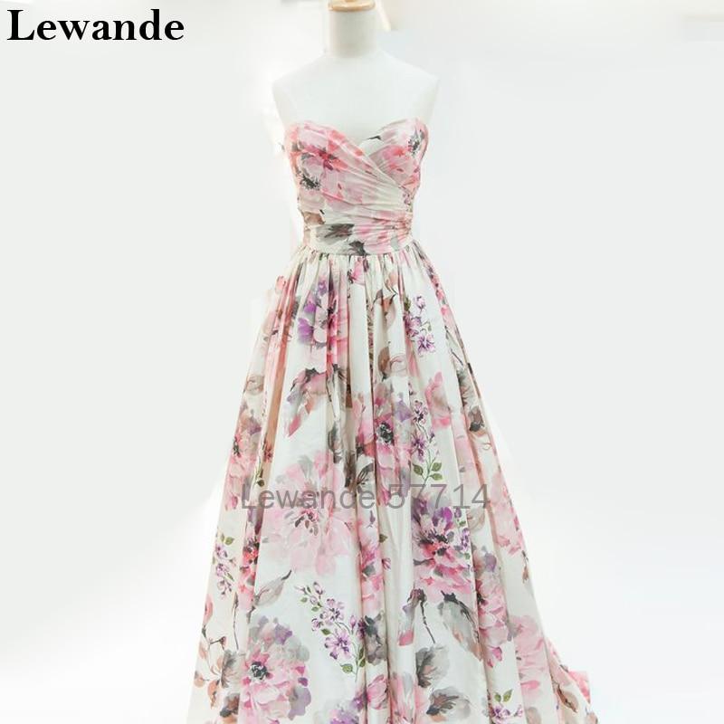 Floral Print Sweetheart Prom Homecoming Dresses Seniors Lewande A ...