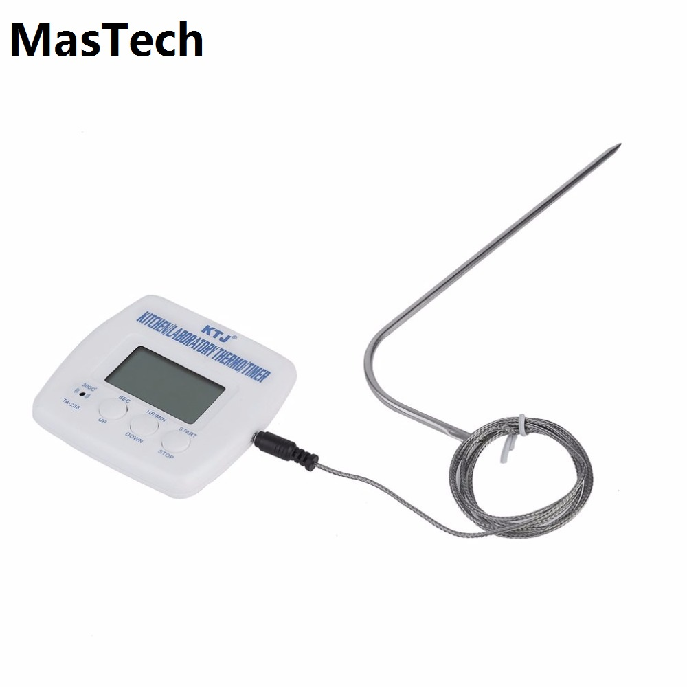 Kitchen Cooking Food Meat Probe Thermometer Timer Digital Lcd Display BBQ Thermometer For Oven 2017 Thermometer