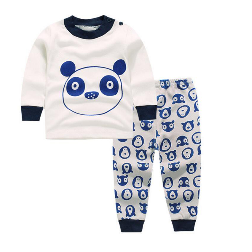 2 Piece Baby sleep set Panda pajamas nightdress nightgown shirt pants Children's pajamas for Boy costume infant girl sleepwear