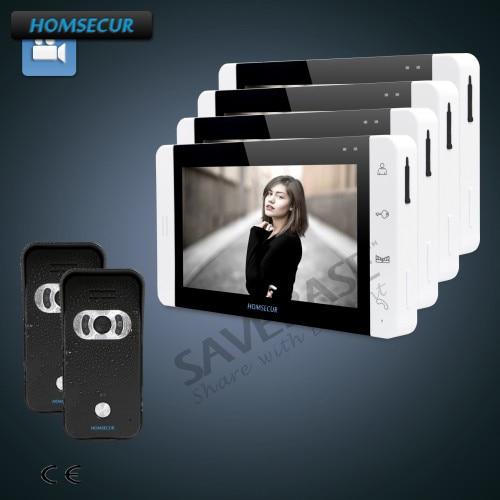 HOMSECUR 7 Video Door Phone Intercom System with Dual-way Intercom+Russian Logistics